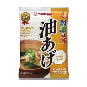 Мисо-суп быстрого приготовления с жаренным тофу