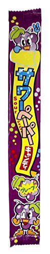 """Жевательная конфета Yaokin Inc кислые языки """"Виноград"""" 15 гр. /Япония/"""