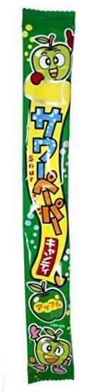 """Жевательная конфета Yaokin Inc кислые языки """"Яблоко""""  15 гр. /Япония/"""