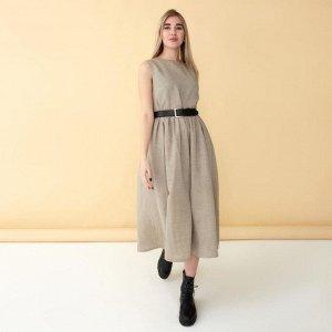 Платье женское MINAKU: Cotton collection, цвет бежевый, р-р 48