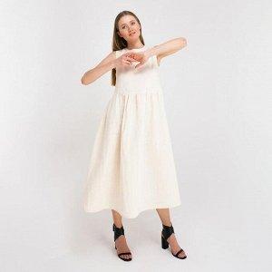 Платье женское MINAKU: Cotton collection, цвет молочный, р-р 44