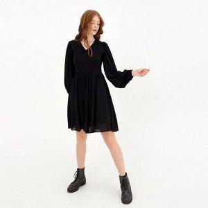Платье женское MINAKU: Green trend  цвет чёрный, р-р 44 5531667