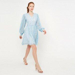 Платье женское MINAKU: Green trend  цвет голубой, р-р 44 5531667