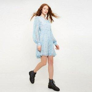 Платье женское MINAKU: Green trend  цвет голубой, р-р 42 5531666