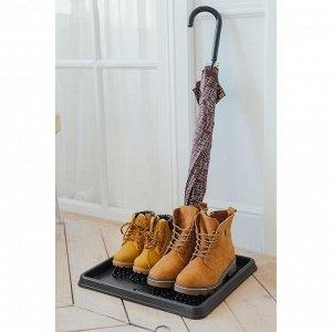 Лоток для обуви, 43*39 см, цвет чёрный