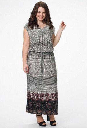 Платье Melissena 887 низ огурцы