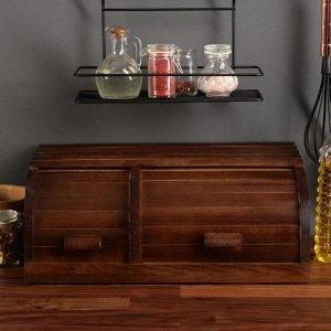 """Хлебница деревянная """"Кантри"""", двойная, 45 см, массив бука"""