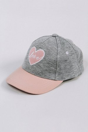 Бейсболка Love серо-розовый