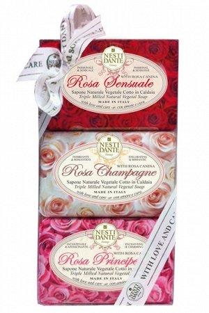 NESTI DANTE 1325603 НАБОР РОЗА Чувств.Роза+Роза Шампань+Роза Принцесса  3*150гр