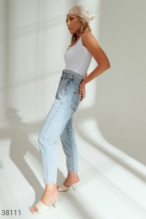 Голубые джинсы slouchy