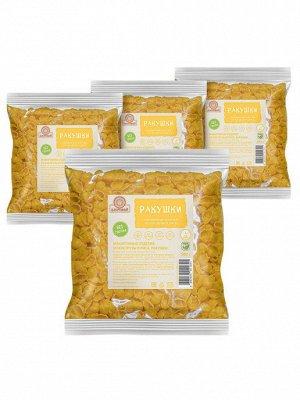Макаронные изделия рисово-кукурузные Ракушки 300 гр без глютена Здоровей