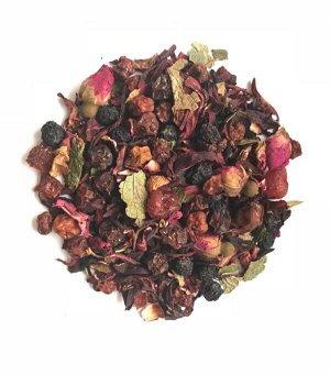 Брусника с миндалем черный чай 100гр