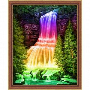 Алмазная мозаика 3D Водопад