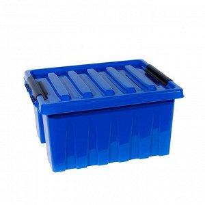 Контейнер с крышкой 500х390х250 синий 36 л