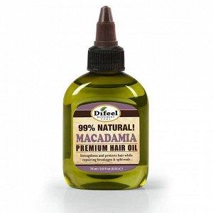 Натуральное премиальное масло для волос с макадамией, 75 мл