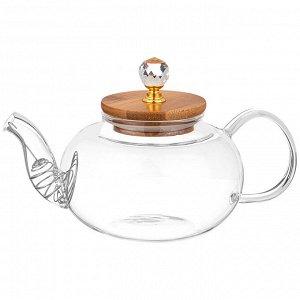 """Чайник ЧАЙНИК ЗАВАРОЧНЫЙ AGNESS """"KRISTALL"""" 800 МЛ  Материал: Жаропрочное стекло Заварочный чайник стеклянный с фильтром в носике, выполнен из жаростойкого стекла. Оригинальный стильный заварочный чай"""