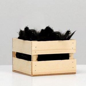 Наполнитель из перьев для шаров и подарков. 9 см. черный