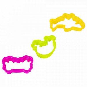 """Пластилин в ведерке ЮНЛАНДИЯ """"ПОДВОДНЫЙ МИР"""", 5 цветов, 300 г, 3 формочки, ВЫСШЕЕ КАЧЕСТВО, 105860"""