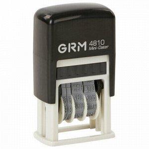 Датер-мини месяц буквами, оттиск 20х3,8 мм синий, GRM 4810, 124131000