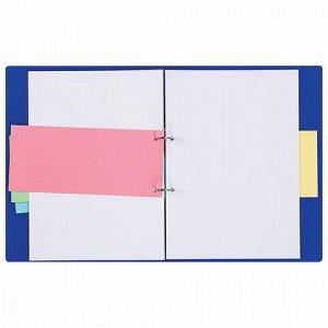 Разделители листов (полосы 230х105 мм) картонные, КОМПЛЕКТ 100 штук, розовые, BRAUBERG, 223974