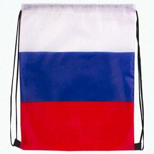 Сумка-мешок на завязках Триколор РФ, без герба, 32 х 42 см, BRAUBERG, 228327, RU36