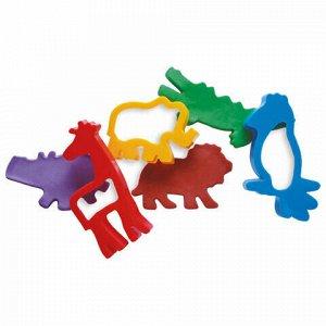 """Пластилин на растительной основе JOVI (Испания), набор, """"Зоопарк"""", 5 цветов, 20 предметов, 475"""