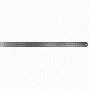 Линейка металлическая 50 см, BRAUBERG, европодвес, 210310