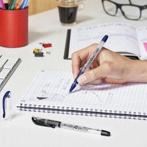 """Ручка гелевая с грипом BIC """"Gelocity Stic"""", СИНЯЯ, узел 0,5 мм, линия письма 0,29 мм, CEL1010265"""