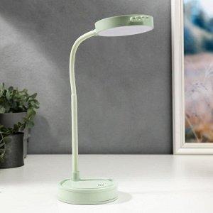 Лампа настольная сенсорная 1523/1GR 30хLED 3Вт АКБ USB 2 режима зеленый 10х10х41 см