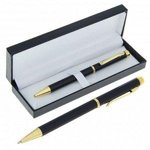 Ручка шариковая, подарочная, поворотная, в кожзам футляре, «Проект»