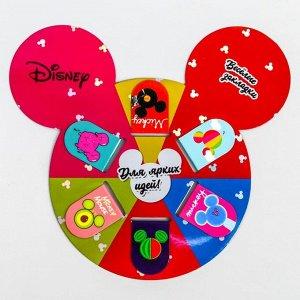 """Открытка с магнитными закладками """"Для ярких идей"""", Микки Маус, 6 шт."""