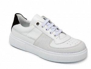 Кеды Кеды. Цвет белый. Модель на узкую ножку, без подъёма. Носок защищён. Пятка чёрный нубук