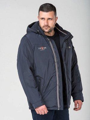 деми Удлинённая мужская демисезонная куртка с капюшоном. Среди особенностей можно выделить оригинальную подкладку и контрастную отделку. На капюшоне и по низу изделия расположены регулируемые кулиски.