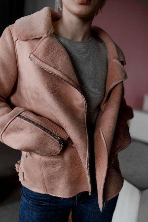 Куртка-дубленка из экомеха