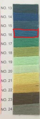 Гофра Китай, 250*50 см цвет № 16 джинсовый