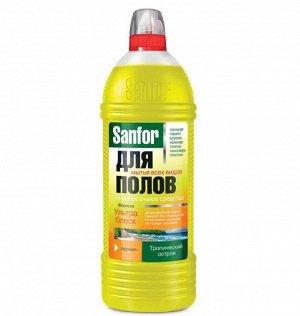 """SANFOR Средство для мытья полов """"Тропический остров"""", 1000 мл"""