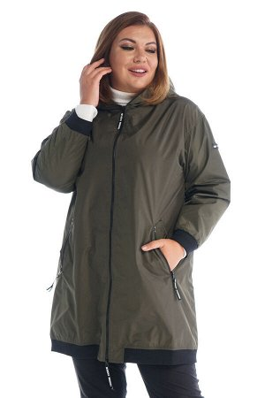 "Куртка ""Бомбер"" с капюшоном темная олива"
