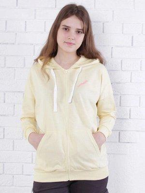 Толстовка Толстовка на молнии для девочек 11/16 лет. Силуэт свободный OVER size.  Модель с капюшоном и удобным карманом кенгуру. Линия плеча спущена. Низ и манжеты выполнены из рибаны 2/2. В качестве