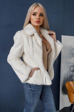 """Куртка-косуха из норки цвет """"White"""""""