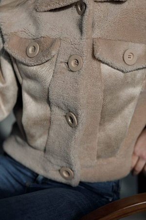 Куртка из экомеха керли