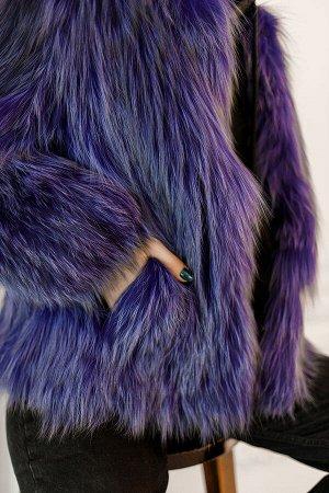 Жакет из лисы на вязаной основе