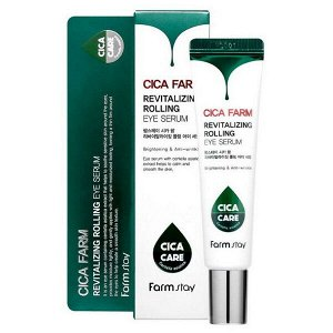 Сыворотка-роллер для кожи вокруг глаз FarmStay Cica Farm Revitalizing Rolling Eye Serum, 25 мл