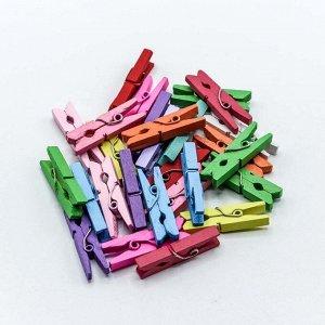 Декоративные прищепки 3*0,8*0,4 см цветные (10 штук)
