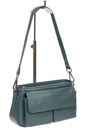 Кожаная женская сумка-багет