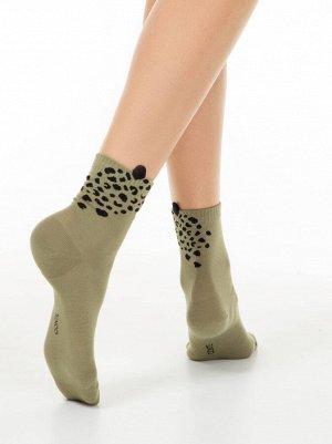 Classic Носки женские с пикотом «Leopard»
