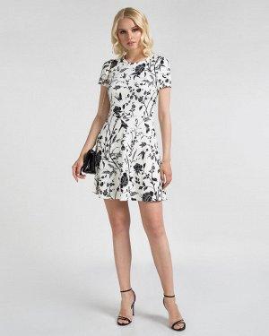 Платье жен. (002122)бело-черный