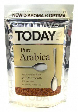 Кофе Today Pure Arabica субл. м/у 37,5г 1/24