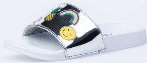725048-11 серебрист. туфли пляжные школьно...