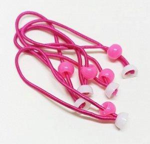 Резинка для волос с креплением для украшений. Ярко-розовый.