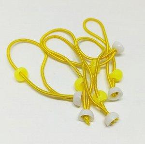 Резинка для волос с креплением для украшений. Желтый